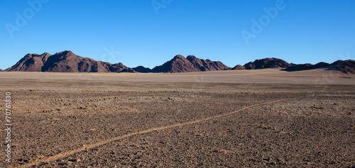 Strada nel deserto Fototapet