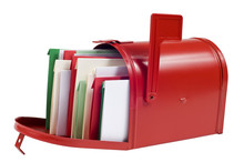 Christmas Cards Filling Mail Box