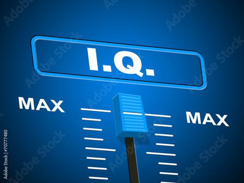 Photo Intelligence Iq Indicates Brain Power And Acumen