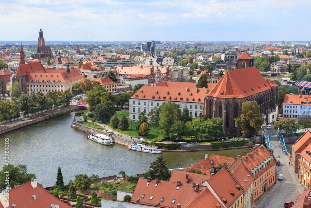 Fototapety, obrazy: Wrocław, widok z wieży katedry