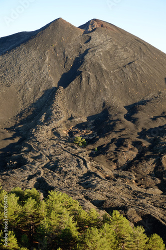 Valokuva  Volcanic Cone And Cooled Lava In Etna National Park, Sicily