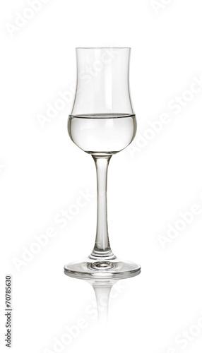 Photo gefülltes Grappaglas
