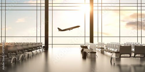 Poster Aeroport airplane