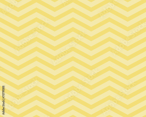 Yellow Chevron Zigzag Textured Fabric Pattern Background