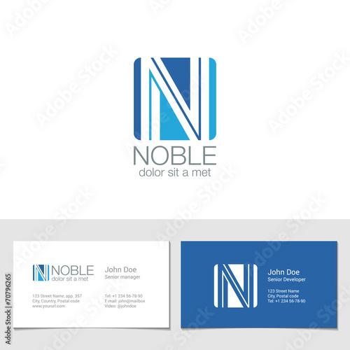 Corporate Logo N Letter company vector design  Logotype