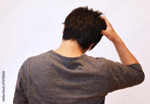 Fotografie, Obraz  30代の男性の後ろ姿