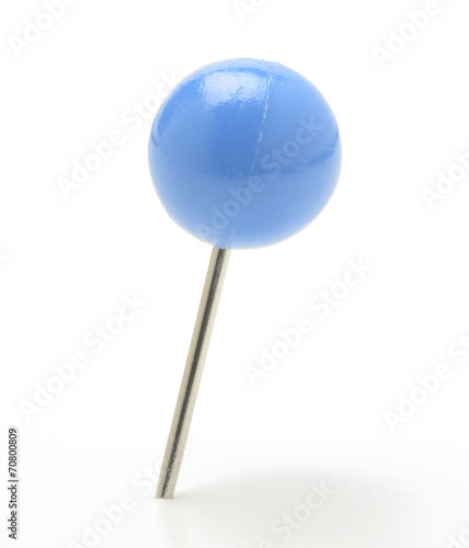 Pin con cabeza en forma de bola, azul Wallpaper Mural