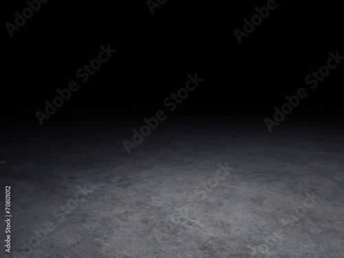 Fotografie, Obraz  concrete floor with dark background