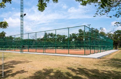 Foto op Plexiglas Stadion Tennis clay court.