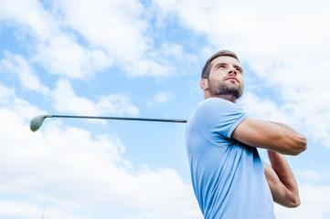 Panel Szklany Podświetlane Golf Professional golfer.