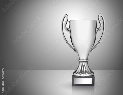 Fotografie, Tablou  champion golden trophy on grey background