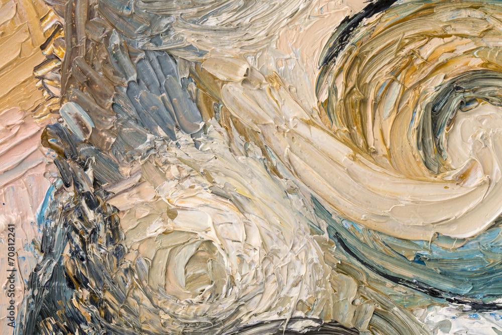 Fototapeta Abstract painting of circles.