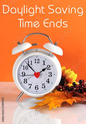 Fotobehang Pop Art Daylight Savings Time with Clock Concept