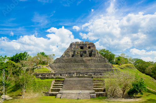 xunantunich maya site ruins in belize Wallpaper Mural