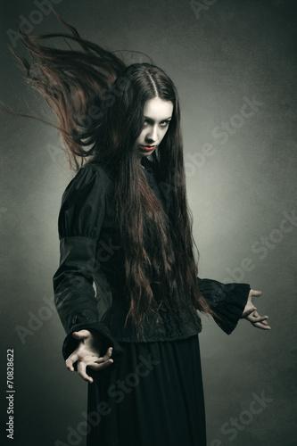 Fotografie, Obraz  Tmavý čarodějnice volání černé pravomoci
