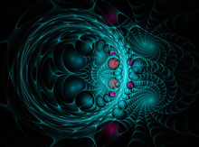 Colorful Abstract Fractal Background