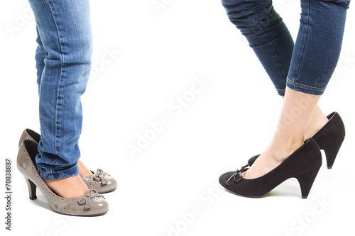 Fotografija  bambine con scarpe col tacco