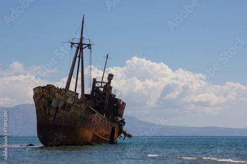 Foto op Canvas Schipbreuk Schiffswrack Dimitrios