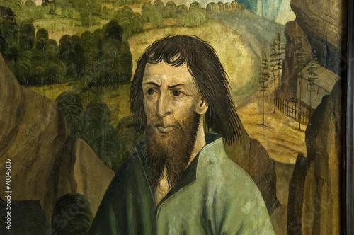 Gemaltes Porträt des hl. Niklaus von Flüe, Sarnen, Schweiz Tapéta, Fotótapéta