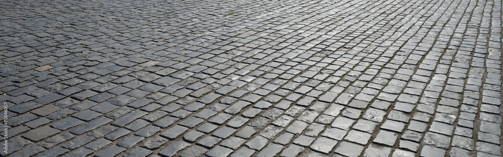 Fototapety, obrazy: Old cobblestone pavement.