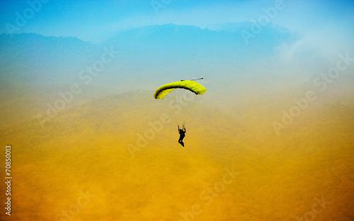 Foto op Canvas Luchtsport parachute against blue sky