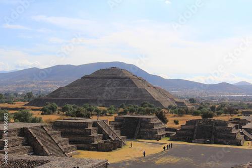 Tuinposter Mexico Site archéologique de Teotihuacan dans la vallée de Mexico