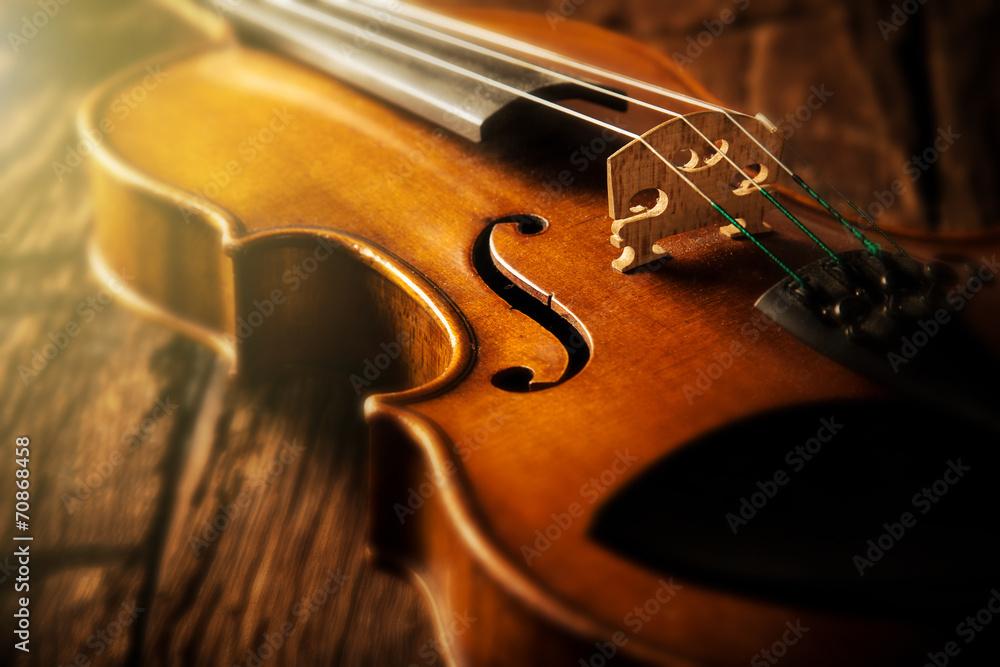 Fototapeta violin in vintage style
