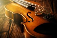 Violin In Vintage Style