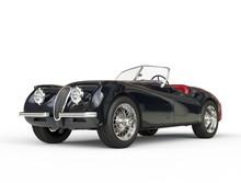 Black Vintage Car Shot On Whit...