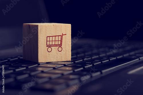 Fototapeta Online shopping and e-commerce background obraz