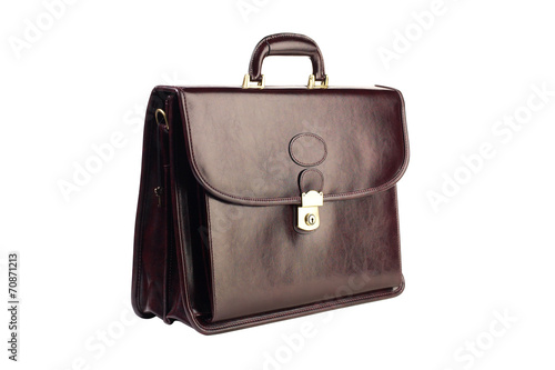 Photo Brown leather briefcase