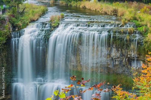 Poster Canada Webster's falls in Hamilton. Ontario, Canada
