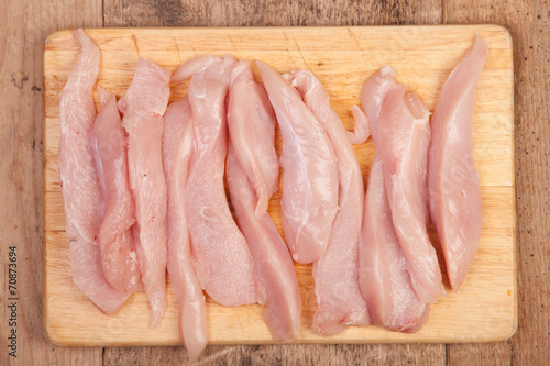 Fotomural  chicken breast cut in to stripes