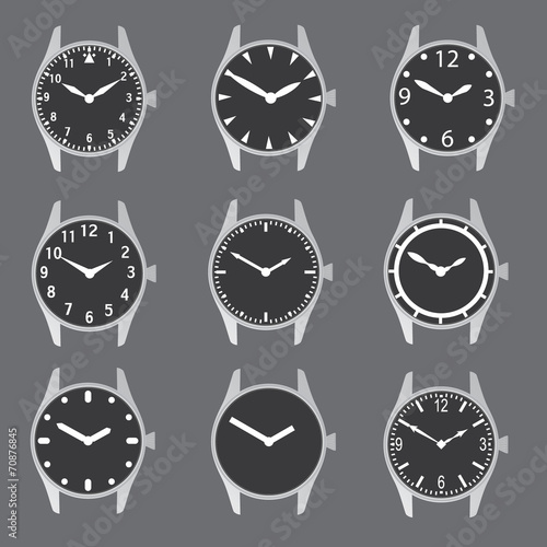 Fotografie, Obraz  various watch case and dials with hands eps10