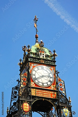 Fotografie, Obraz  Eastgate Clock, Chester © Arena Photo UK