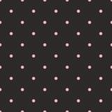 Dachówka wektor wzór różowe kropki na czarnym tle - 70892441