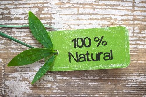 Fotografia  100 % Natural Label