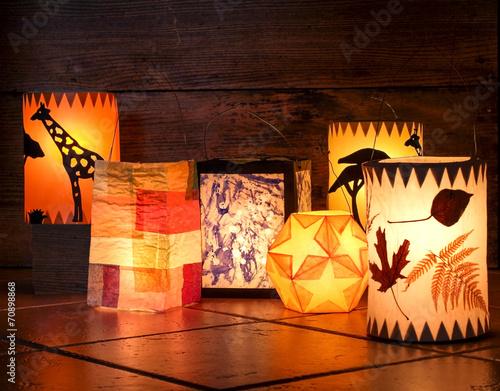 Fotografie, Obraz  Different handmade lanterns, Sankt Martin