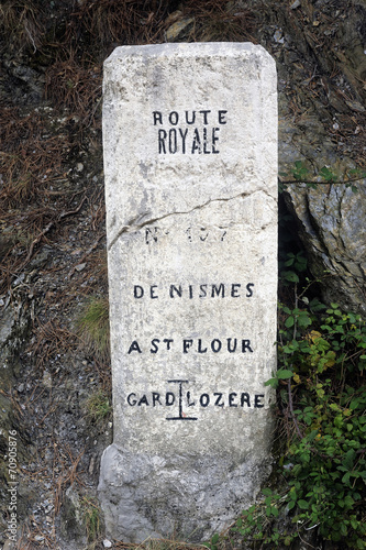 milestone dating from the French monarchy Plakat