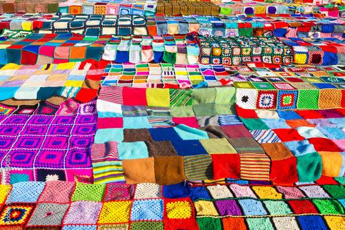 Foto op Plexiglas Wand Colorfull Yarn