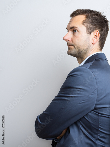 Valokuvatapetti Unhappy Business Man