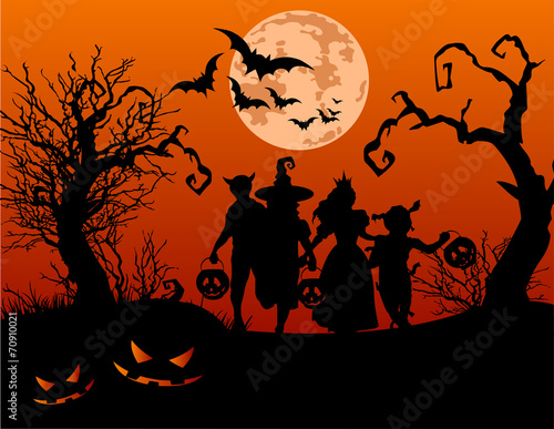 Foto op Canvas Sprookjeswereld Halloween children
