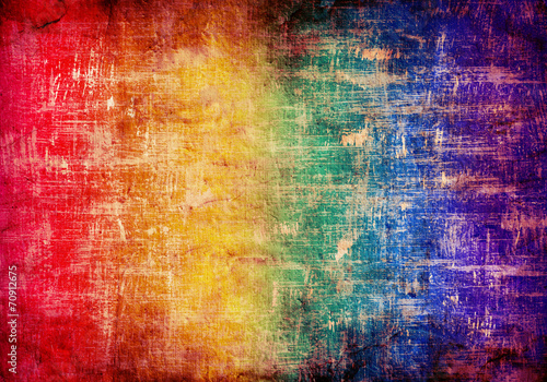 abstract grunge background in rainbow colors - 70912675