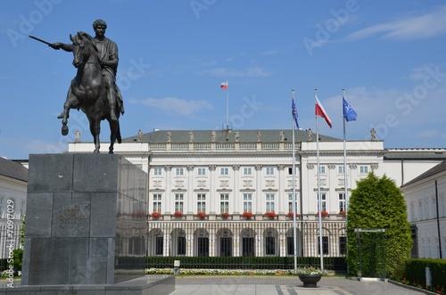 fototapeta na szkło Palais présidentiel Varsovie Pologne Koniecpolski