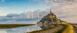 canvas print picture - Panoramic view at morning Mont Saint-Michel