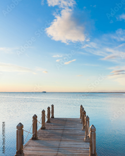Pier in Heavenly Blue Place