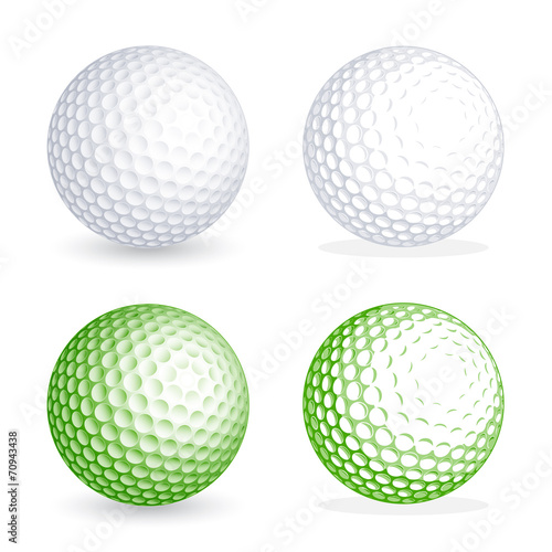 Obraz na plátne Vector golf Ball