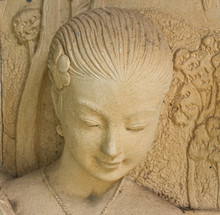 Statue Of A Woman. In Ancient Thai Literature. At The Garden