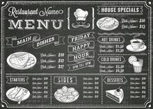 Grunge Chalkboard Restaurant M...