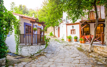 Greek Houses And Tavern On A S...